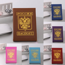 Fashion Men Women Artificial Leather Passport
