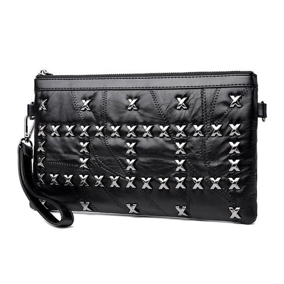Fashion Rivets Women Handbags Lady Shoulder