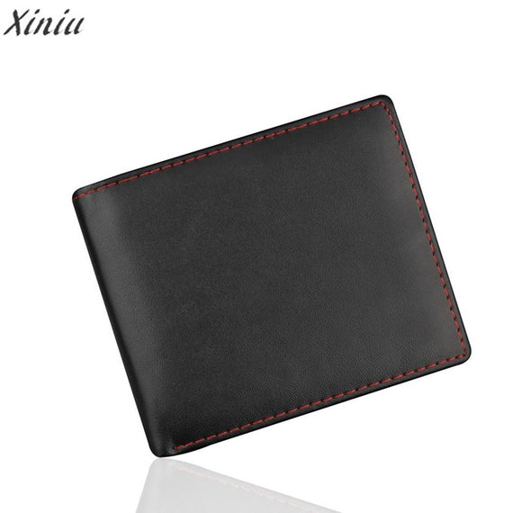 Fashion Wallet Men Bifold Business pu Leather