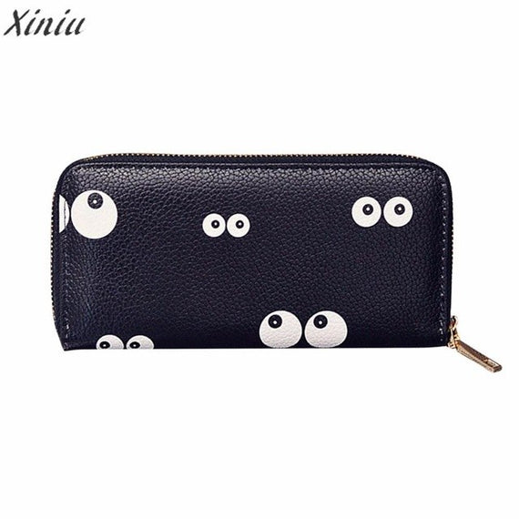 Fashion Wallet Women eyes Printing Zipper Coin