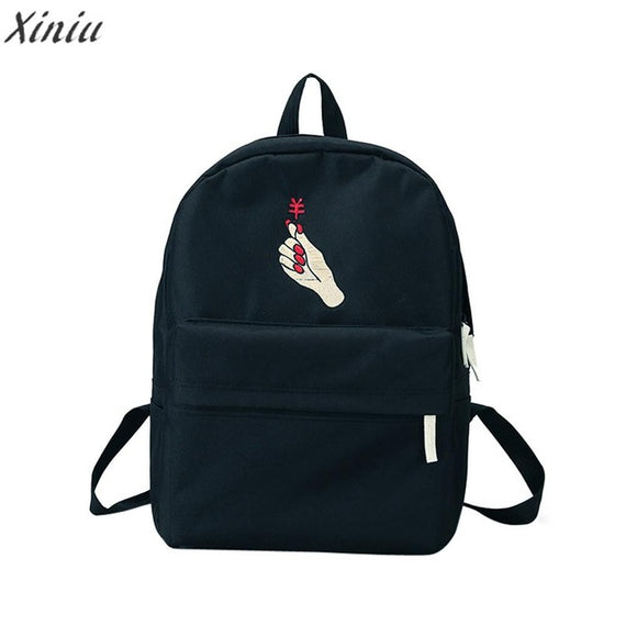 Backpack Women Girls lovely Embroidery