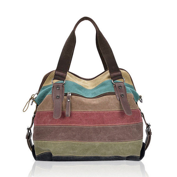 Luxury Handbags Women Bags Designer Canvas Striped