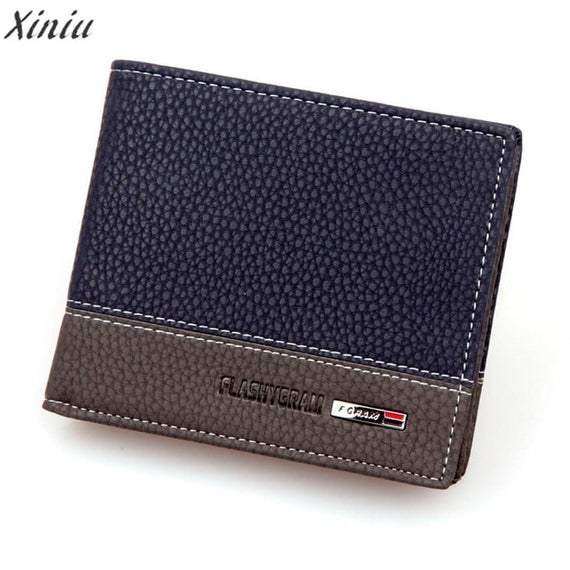 Luxury brand Men Wallets PU Leather Bifold Money