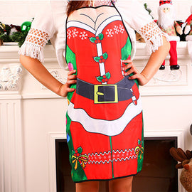 Merry Christmas Novelty Cooking Kitchen Apron