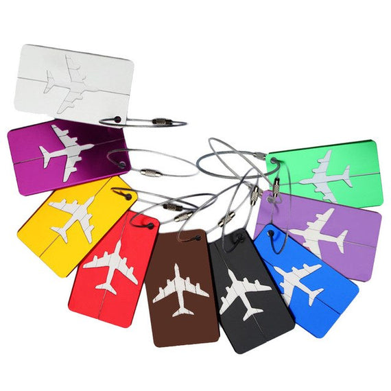 style Airplane Shape Square Luggage Tag