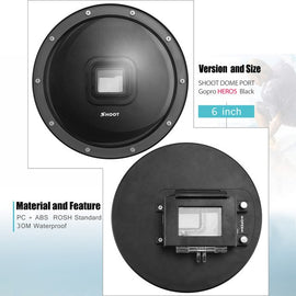 6 inch Diving Dome Port For GoPro Camera Go