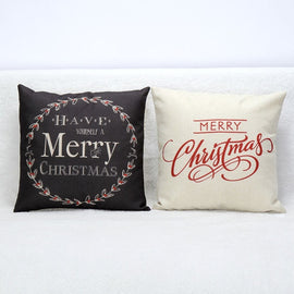 Vintage Christmas Letter Bed Cushion Home Festival