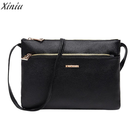 Women Messenger Bags Classic PU Leather Zipper
