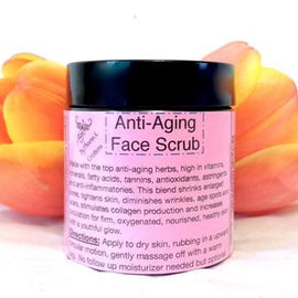 Organic Anti-aging Face Scrub- Raw, Vegan, high in