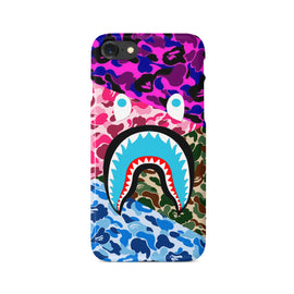 Bathing Ape Multicolor Camo Shark iPhone case