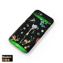 Rick and Morty Character Portal Collab iPhone Case