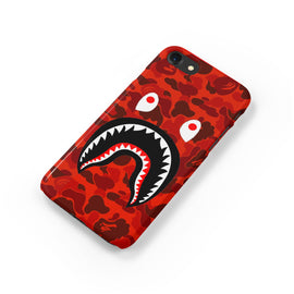 Red Camo Bape Shark Mouth BATHING APE iPhone Case