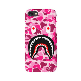 Pink Camo Bathing Ape BAPE Shark Mouth iPhone Case