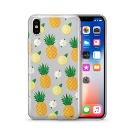 Pineapple Lemon Summer - Clear Case Cover