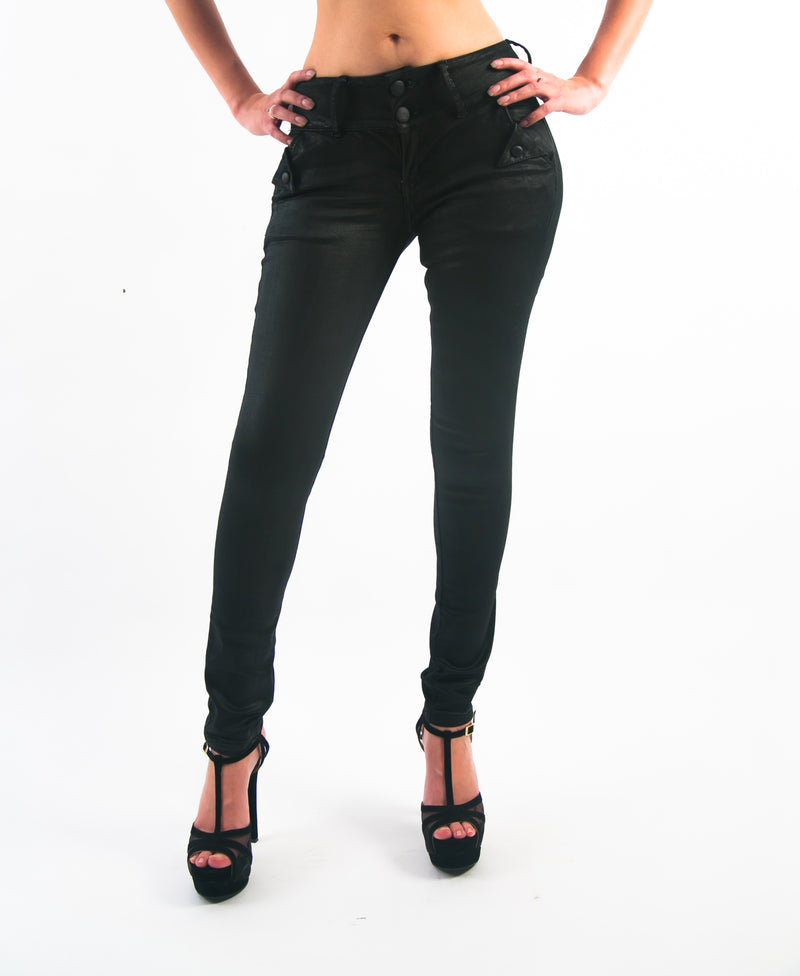 Jeans Colombianos 9278 - Black Shining Levanta Pompa