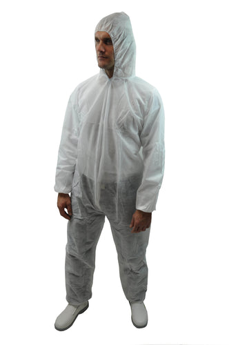 COVERALL WITH HOOD MADE WITH MICROPOROUS MATERIAL