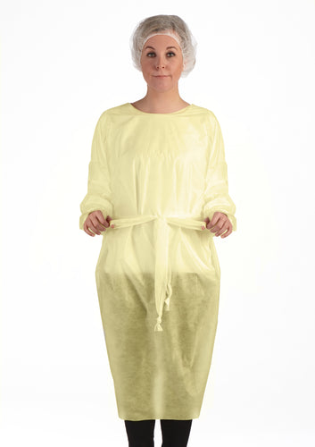 AAMI 2 ISOLATION GOWN, OVER THE HEAD - Yellow