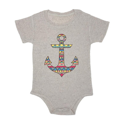 Aztec Pattern On Anchor Baby Triblend Onesie