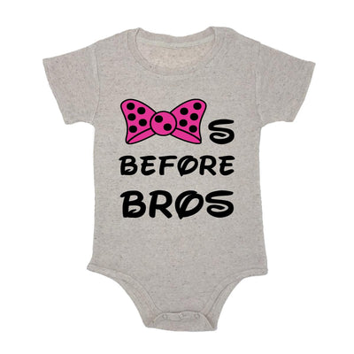Bows Before Bros Baby Triblend Onesie
