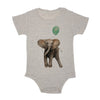 Baby Elephant With Balloon Baby Triblend Onesie