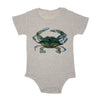 Blue Claw Crab Baby Triblend Onesie