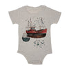 Fishing Boat Baby Triblend Onesie