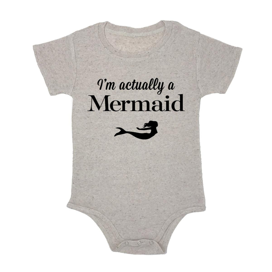 I'm Actually A Mermaid Baby Triblend Onesie
