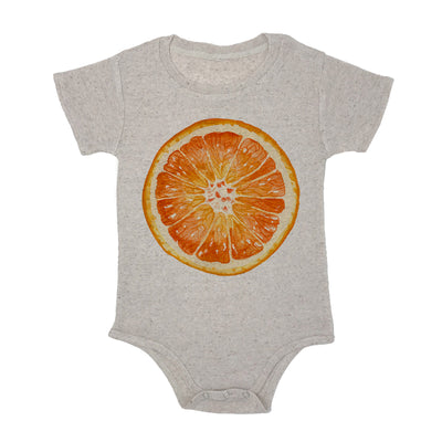 Orange Slice Baby Triblend Onesie