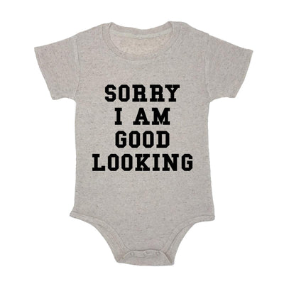 Sorry I Am Good Looking Baby Triblend Onesie