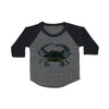 Blue Claw Crab Baby Baseball Shirt