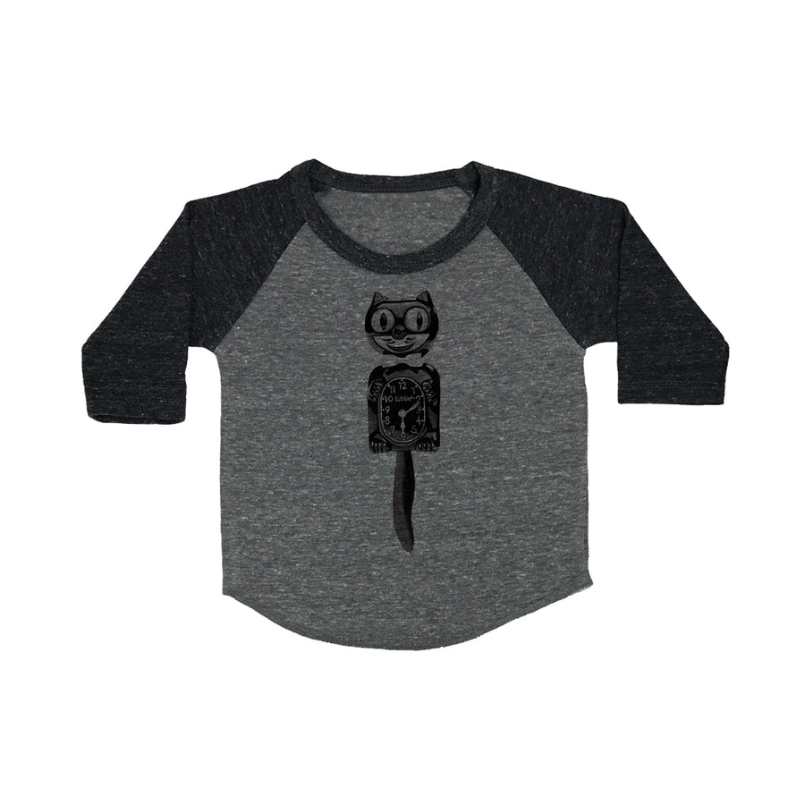 Cat Clock Baby Baseball Shirt