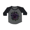 Purple Succulent Baby Baseball Shirt