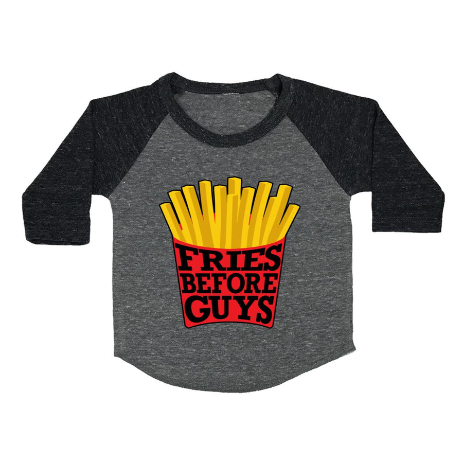 Fries Before Guys Toddler Baseball Shirt