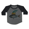 Fish Toddler Baseball Shirt