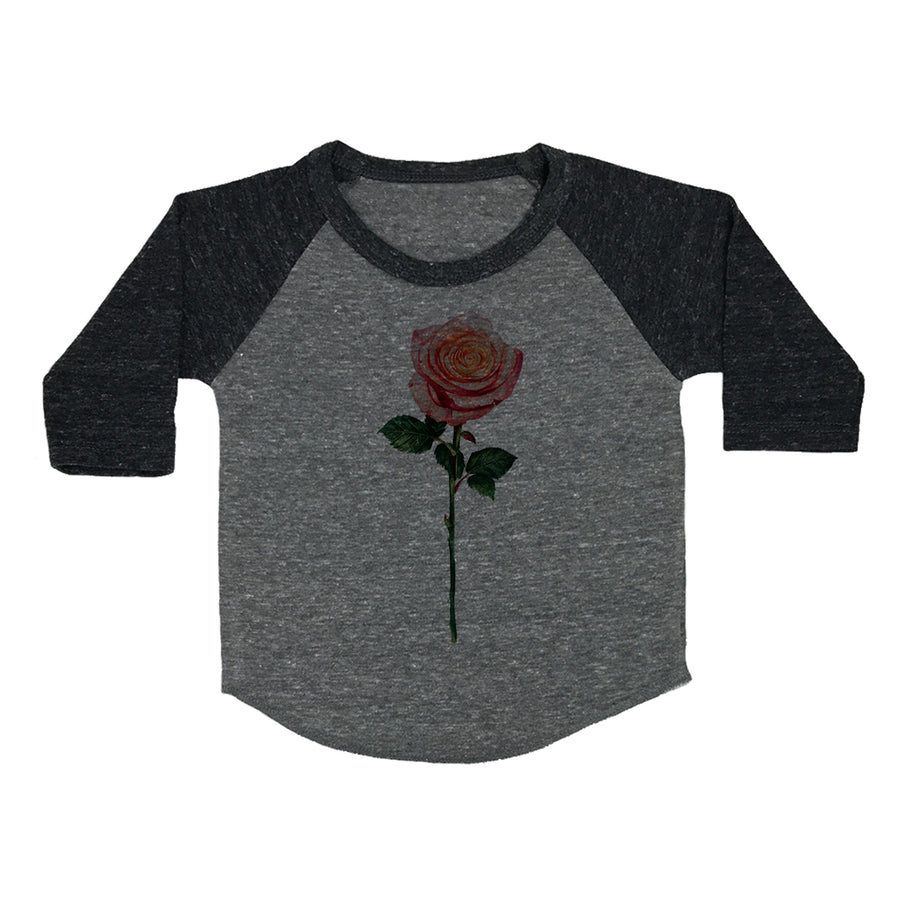 Long-Stemmed Rose Toddler Baseball Shirt