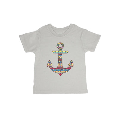 Aztec Pattern On Anchor Baby Organic Tee Shirt
