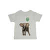 Baby Elephant With Balloon Baby Organic Tee Shirt