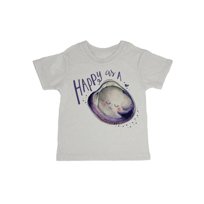 Happy As A Clam Baby Organic Tee Shirt