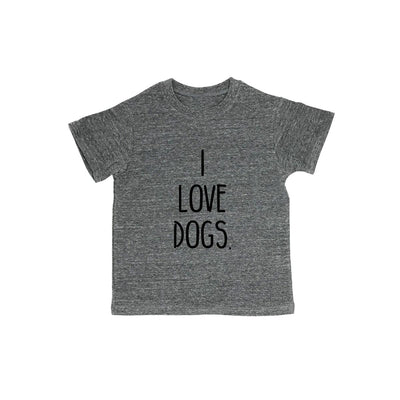 I Love Dogs. Baby Organic Tee Shirt