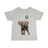 Baby Elephant With Balloon Toddler Organic Tee Shirt