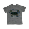 Blue Claw Crab Toddler Organic Tee Shirt