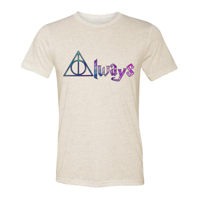 Always Deathly Hallows Galaxy Adult Tee Shirt