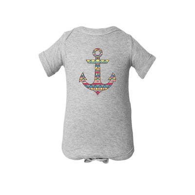 Aztec Pattern On Anchor Baby Onesie