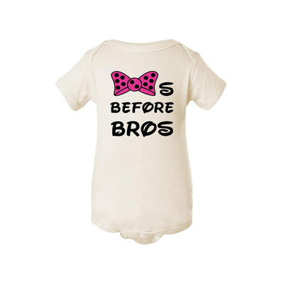 Bows Before Bros Baby Onesie