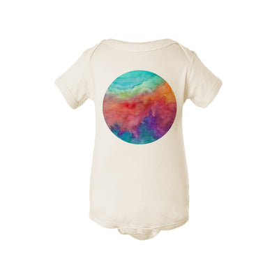 Watercolor Circle Baby Onesie