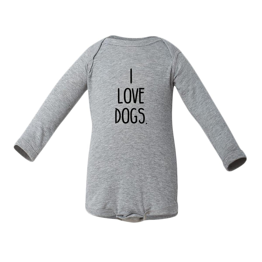 I Love Dogs. Baby Long-Sleeve Onesie