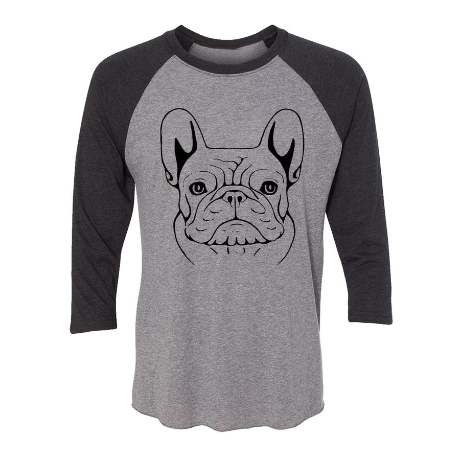 French Bulldog Sketch Adult Baseball Shirt
