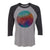 Watercolor Circle Adult Baseball Shirt