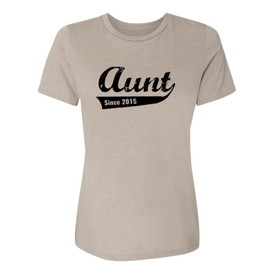 Aunt Since 2015 Womens Tee Shirt