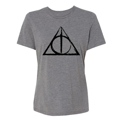 Deathly Hallows Sketch Womens Tee Shirt